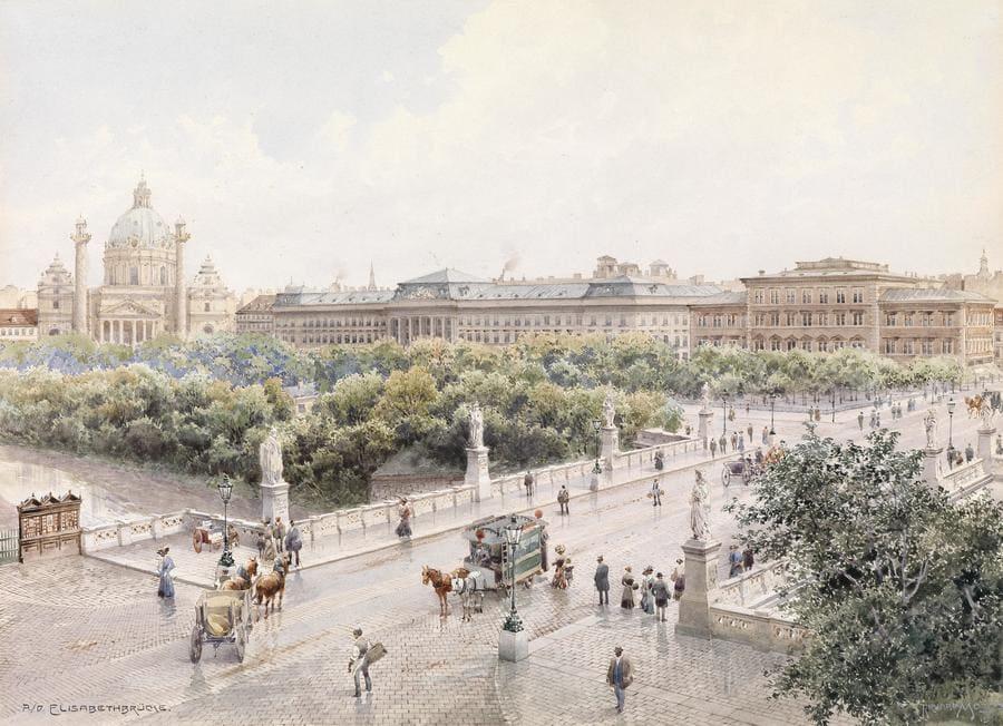 Vista del Puente de Elisabeth (Viena) de Richard Moser