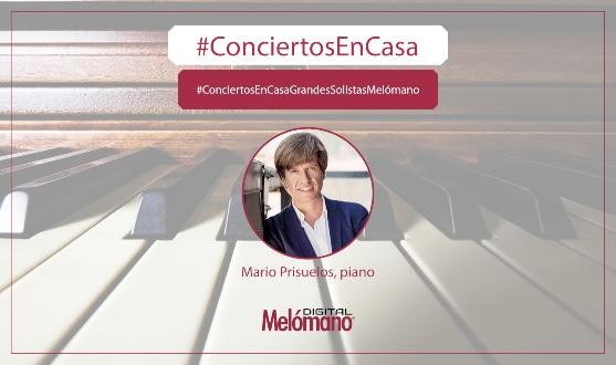 ConciertosEnCasa con el pianista Mario Prisuelos