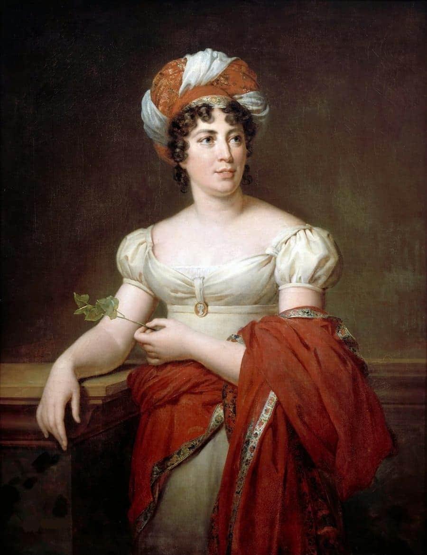 Madame de Staël, retrato de François Pascal Simon