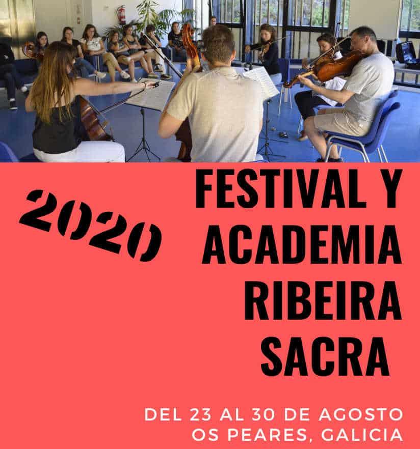 Se abre el plazo de inscripción para el Festival y Academia Ribeira Sacra 2020