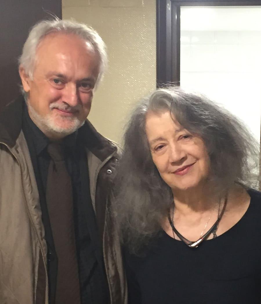 Martha Argerich y Antonio Soria