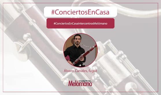 ConciertosEnCasa con el fagotista Alvaro Canales