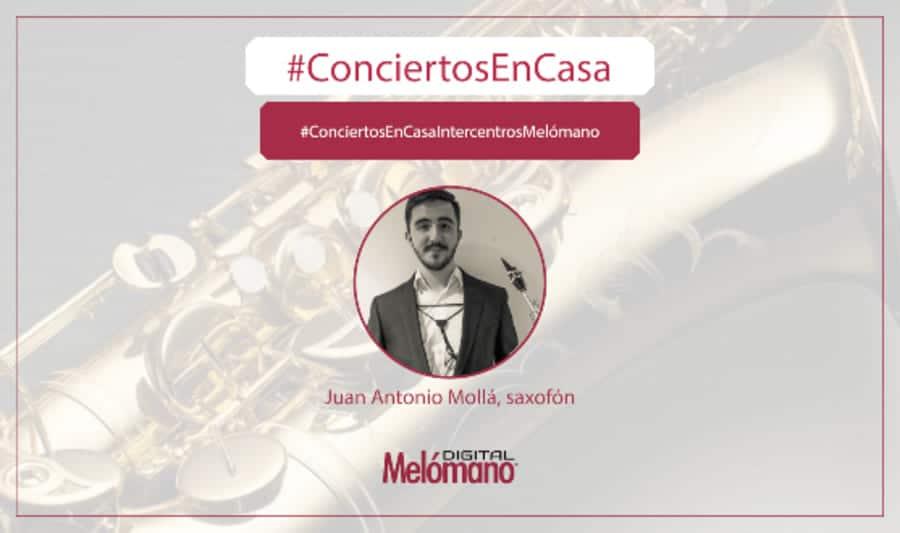 ConciertosEnCasa con el saxofonista Juan Antonio Molla