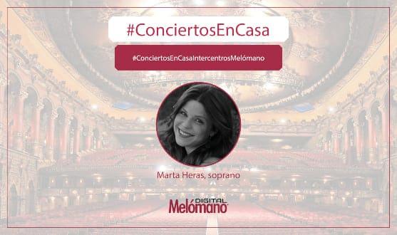ConciertosEnCasa con la soprano Marta Heras