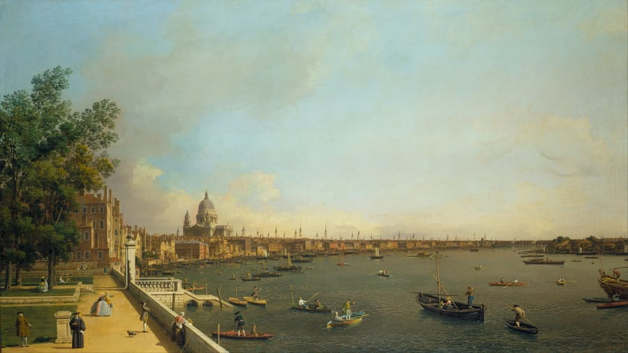 London: The Thames from Somerset House Terrace towards the City (1750-1751), Canaletto