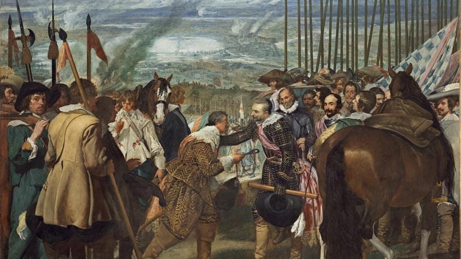 Las lanzas o La rendición de Breda, ca. 1635, Diego Velázquez © Museo Nacional de Prado