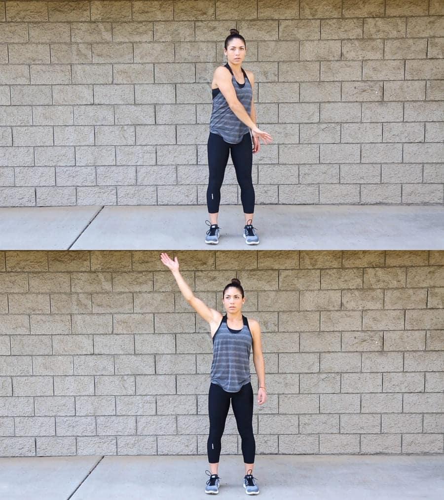 Ejercicio de movilidad de hombro