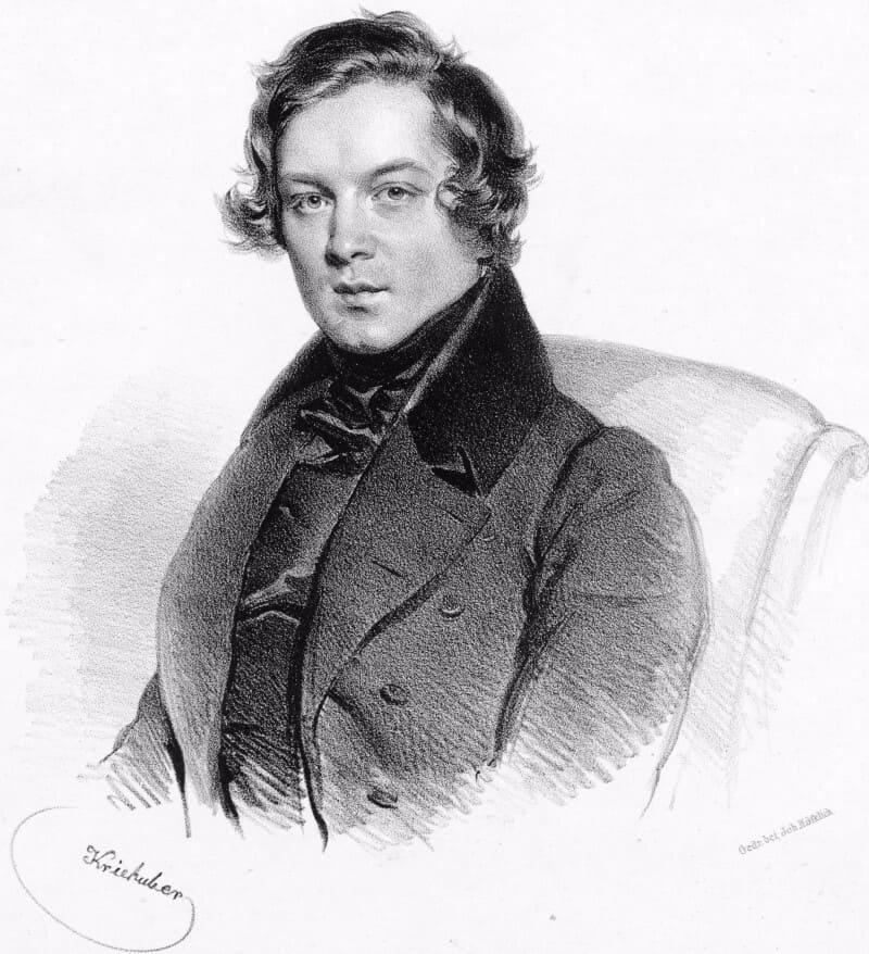 Robert Schumann, por Josef Kriehuber.
