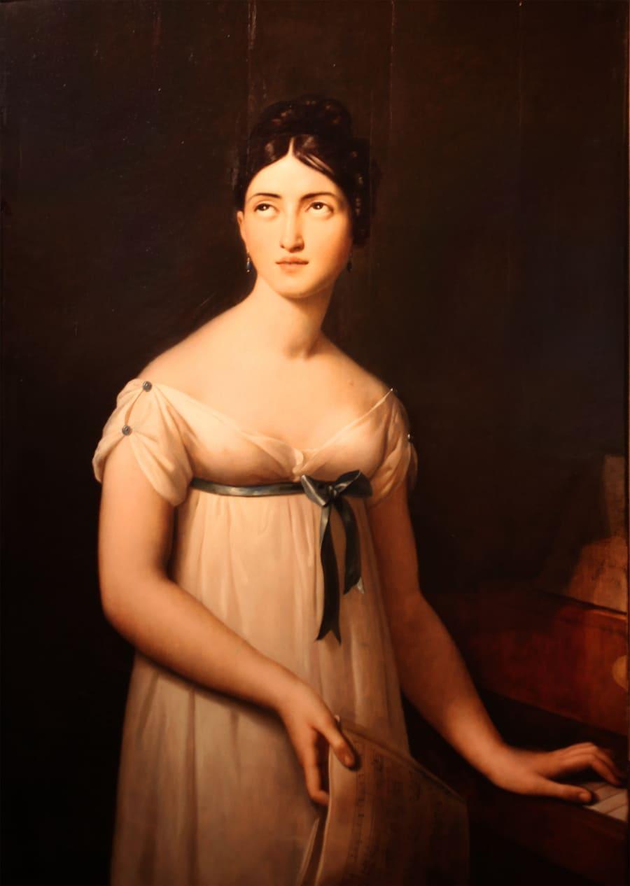 Retrato de Giuditta Pasta realizado por Gioacchino Giuseppe Serangeli (ca. 1821)
