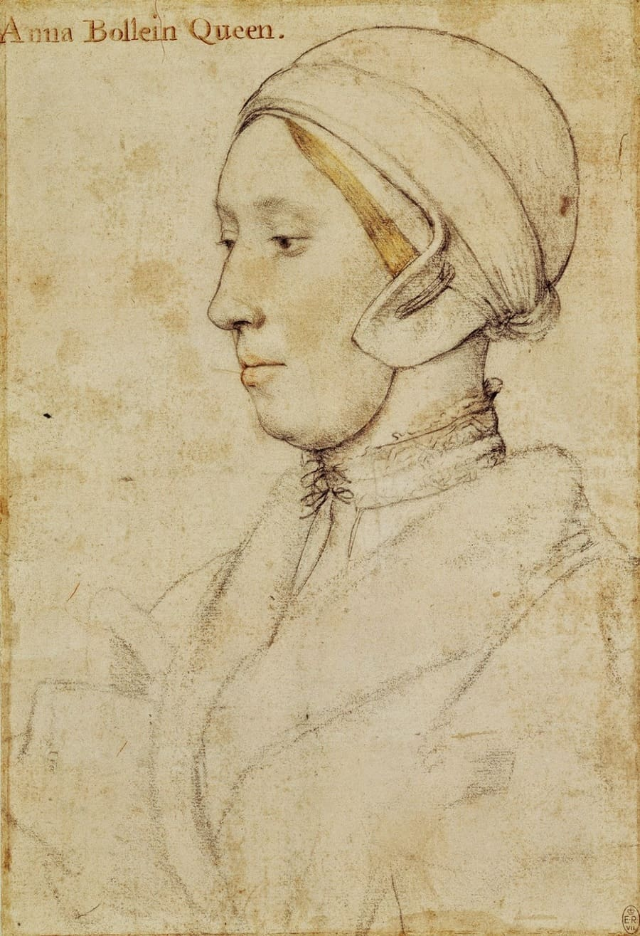 Retrato de la reina Anna Bolena realizado por Hans Holbein el Joven (ca. 1532-1536) © Royal Collection