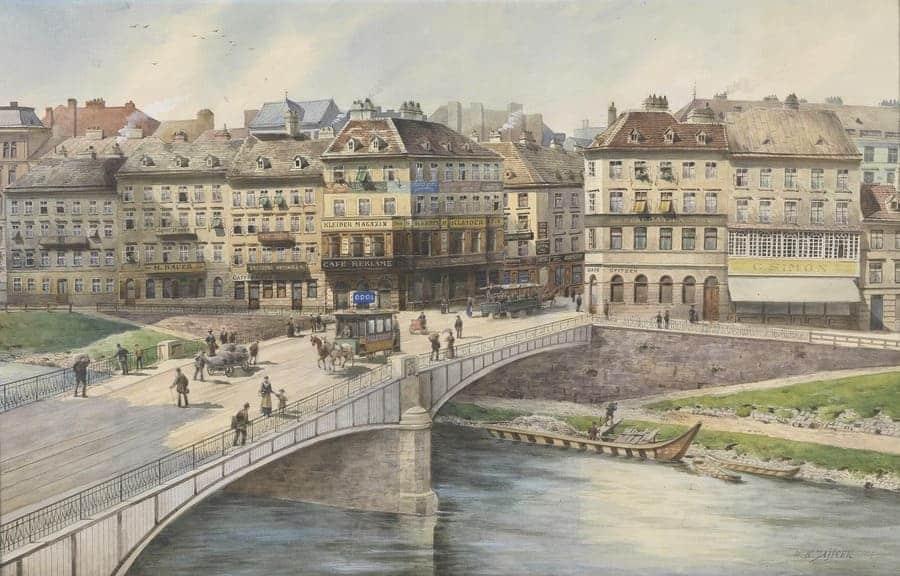 Vista sobre el Danubio (1917), de Carl Wenzel Zajicek