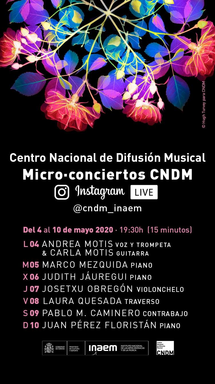 El CNDM presenta su primera serie de micro-conciertos en directo en Instagram