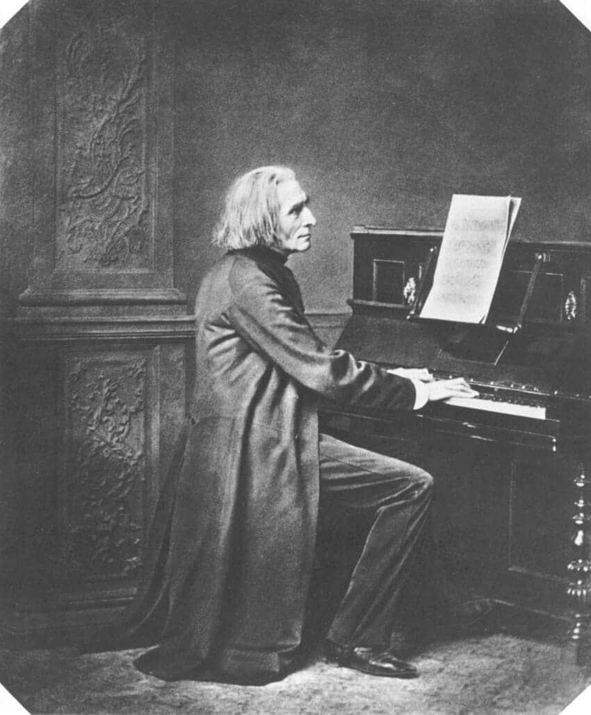 Franz Liszt por Franz Hanfstaengl (ca. 1869)