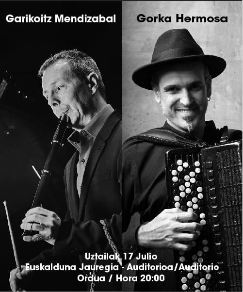 Garikoitz Mendizabal y Gorka Hermosa juntos en el Euskalduna de Bilbao