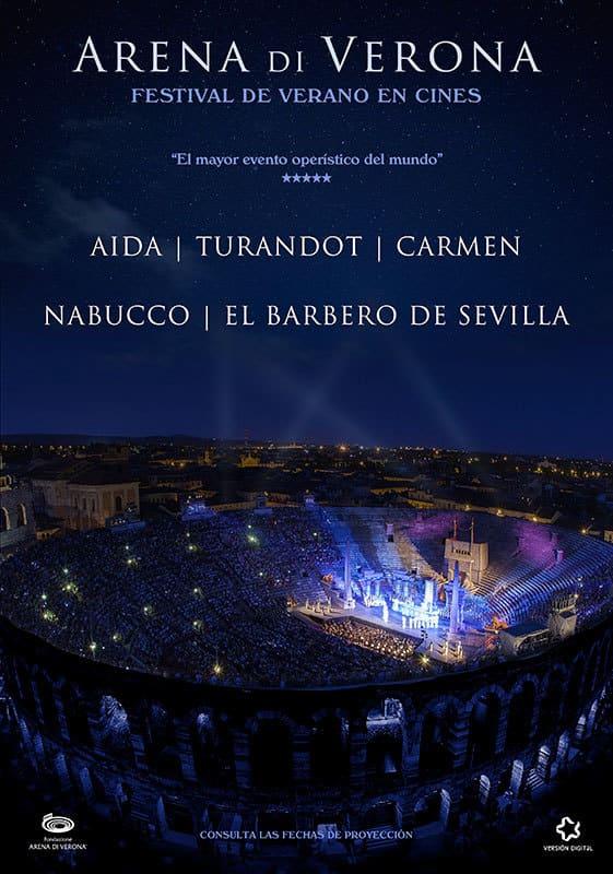 La Arena di Verona en cines los meses de julio y agosto