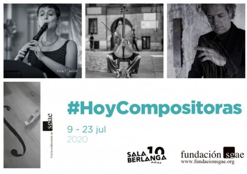 La Fundación SGAE celebra el ciclo 'Hoy compositoras' con conciertos online del 9 al 23 de julio