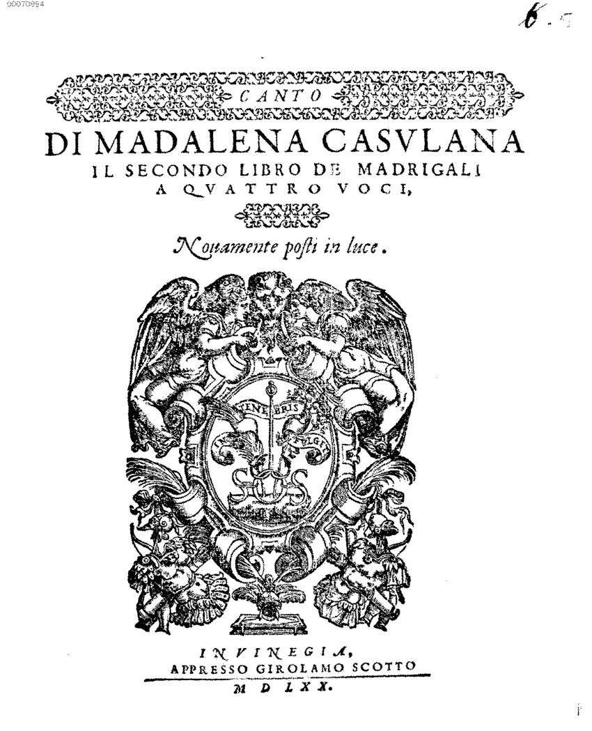 Di Maddalena Casulana
