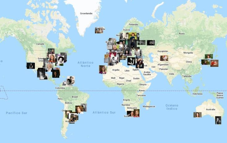 Mapa Creadoras en la Historia de la Música de Sakira Ventura