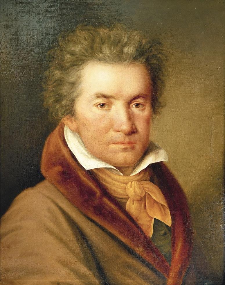 Ludwig van Beethoven en 1815, año en el que su hermano Kaspar muere y acoge a su sobrino Karl