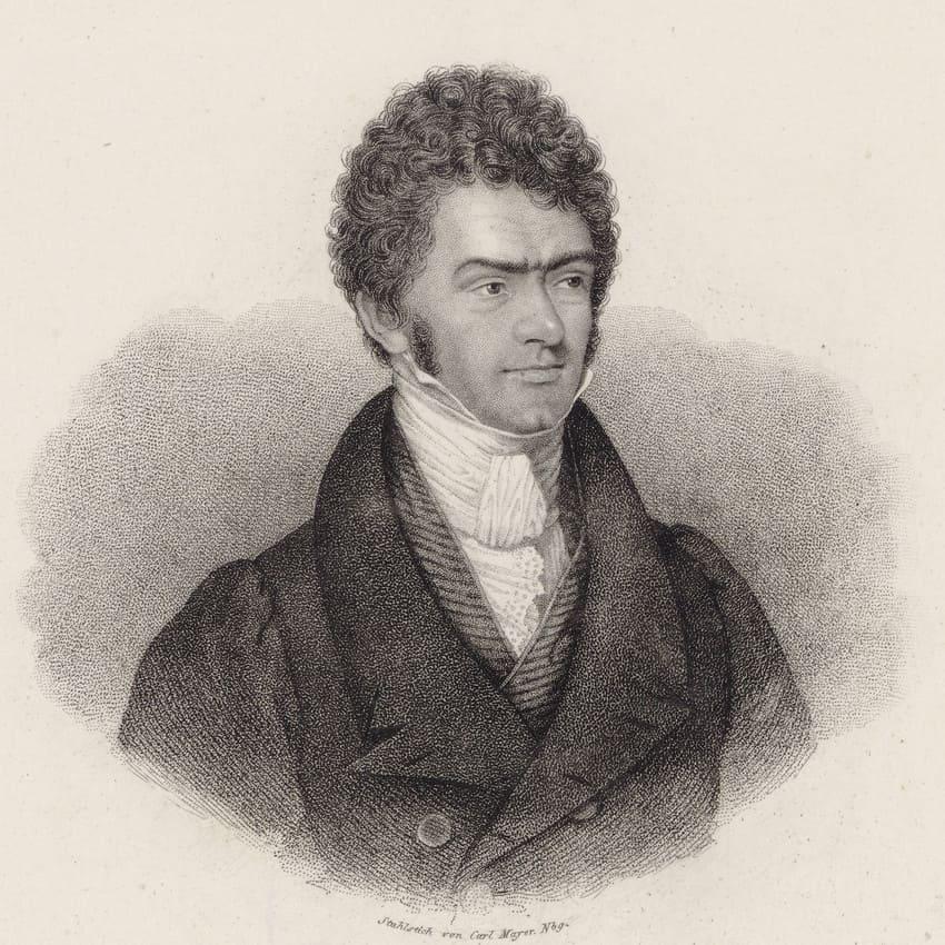 Ferdinand Ries, retrato de Carl Mayer ca. 1830