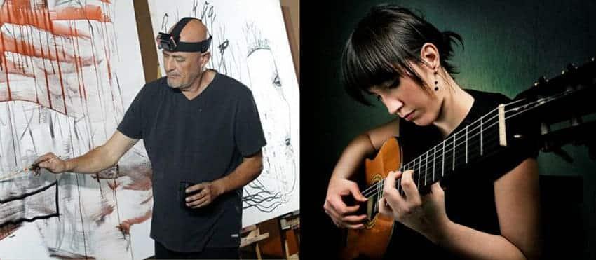 Concierto de Silvia Nogales y el artista plástico JOMA