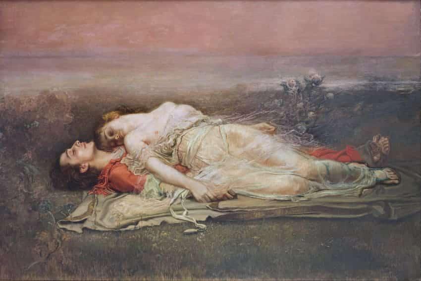 Tristán e Isolda (La muerte) de Rogelio de Egusquiza
