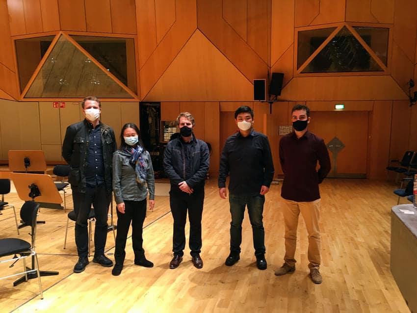 Los cinco semifinalistas, de izquierda a derecha: Johannes Zahn, Tianyi Lu, Gábor Hontvári, Hankyeol Yoon y Edmon Levon