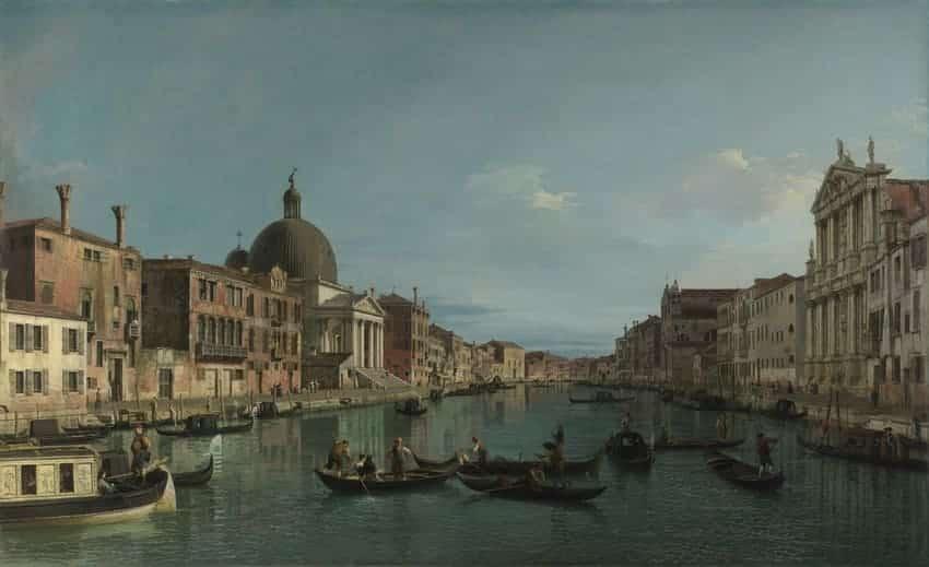 Maddalena Lombardini Venecia: el Gran Canal con S. Simeone Piccolo de Giovanni Antonio Canal