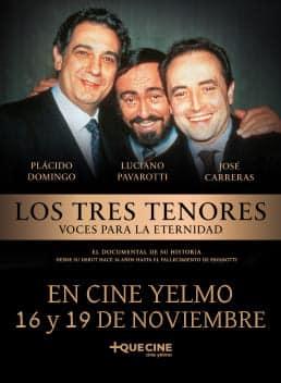 LOS TRES TENORES - Voces para la eternidad - en CINE YELMO a través de +QUE CINE