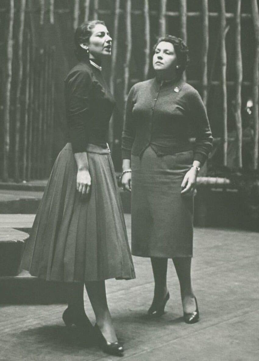 Con Maria Callas en Nueva York en 1956 en Norma