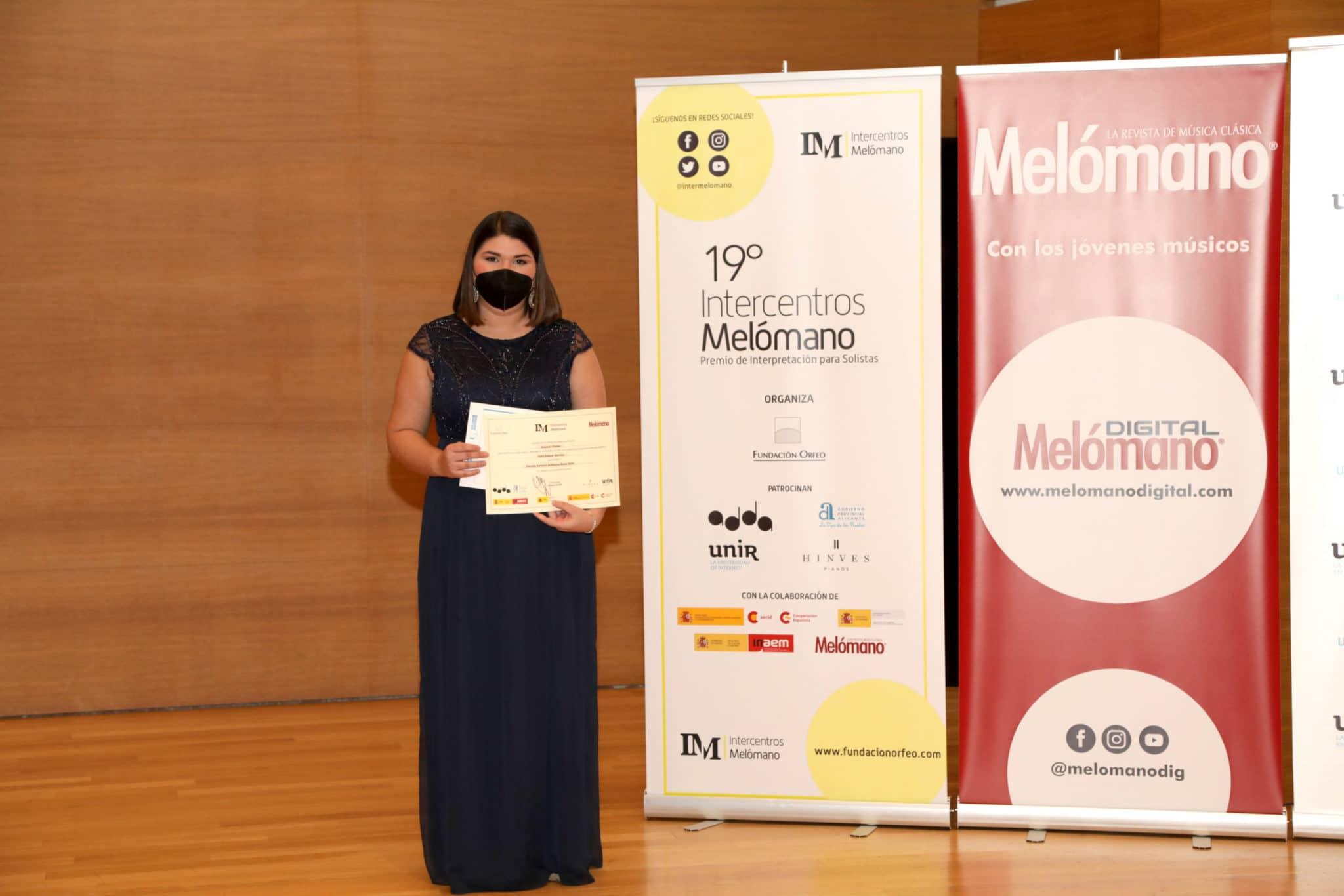 Sofía Salazar Sánchez, Segundo Premio de Grado Superior