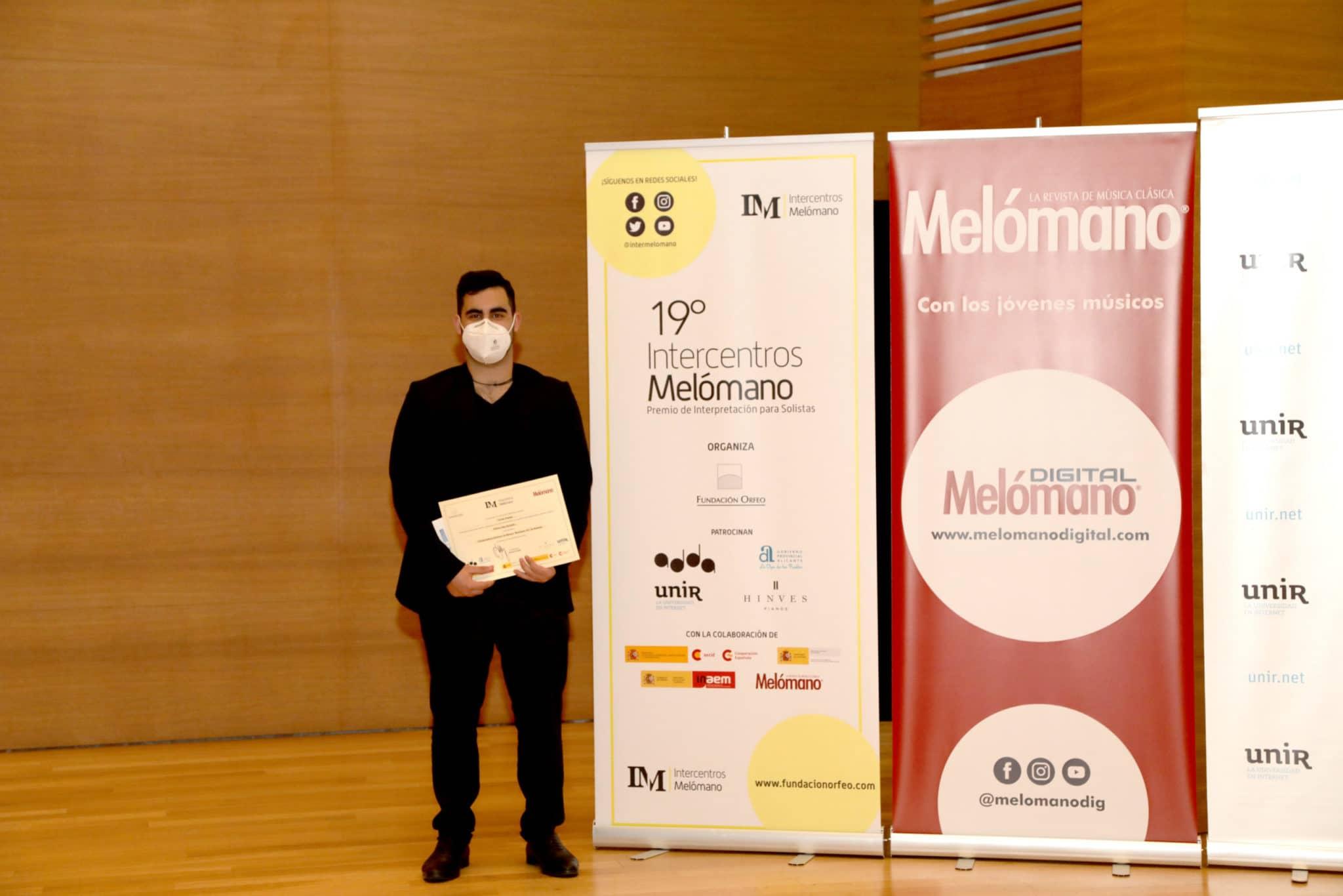 Alfonso Saiz Revuelta, Tercer Premio de Grado Superior