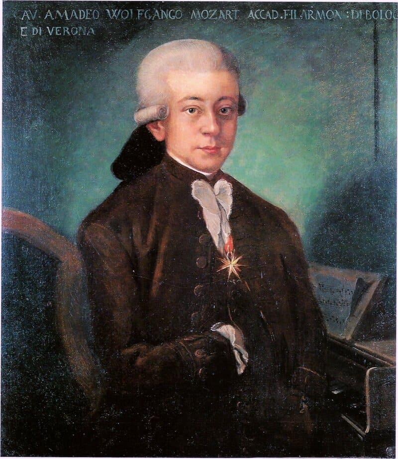 Wolfgang Amadeus Mozart, autor anónimo. © Museo internacional y biblioteca de la Música en Bolonia. Turco