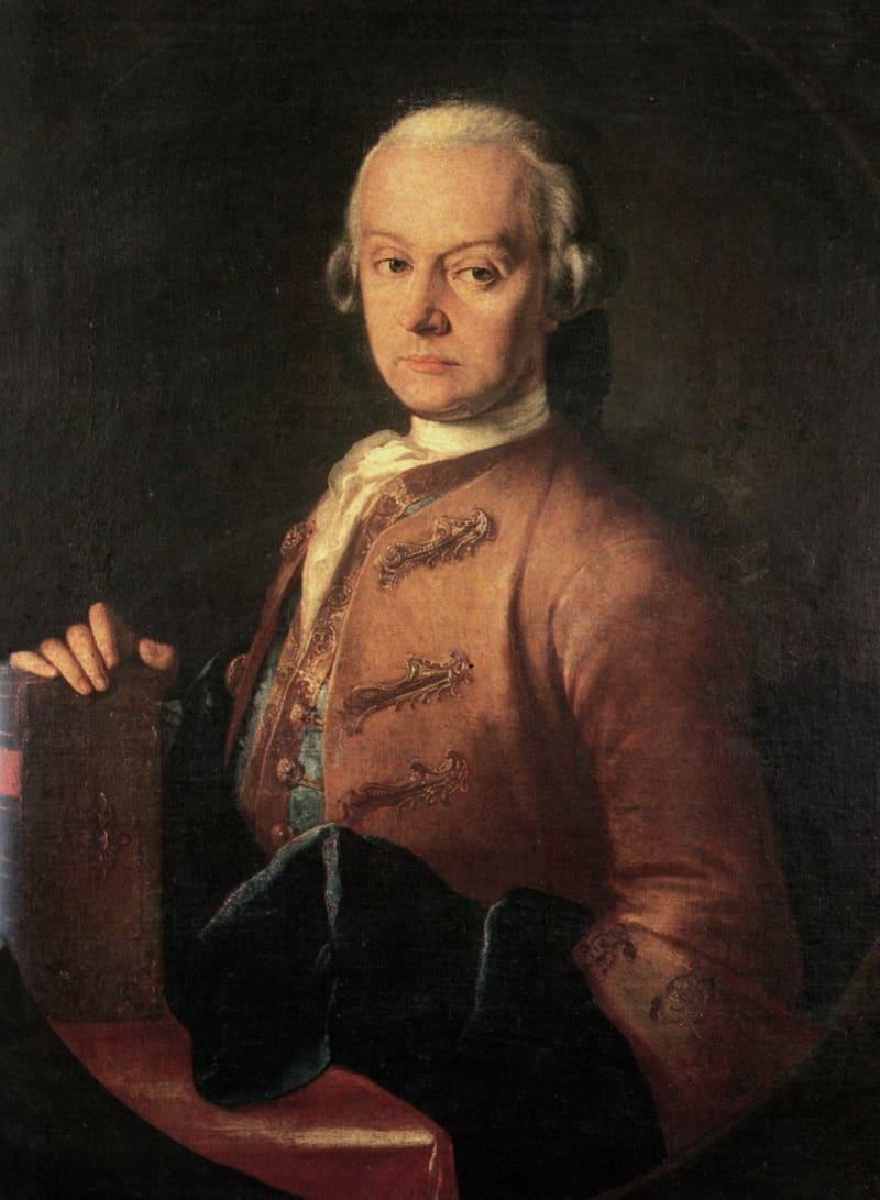 Leopold Mozart, por Pietro Antonio Lorenzoni. © Museo Mozart