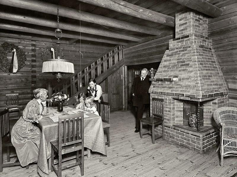 Sibelius y su familia en Villa Ainola
