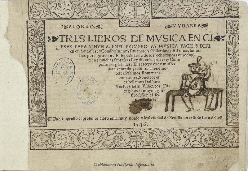Tres Libros de Música en Cifras para Vihuela de Alonso Mudarra © Biblioteca Nacional de España