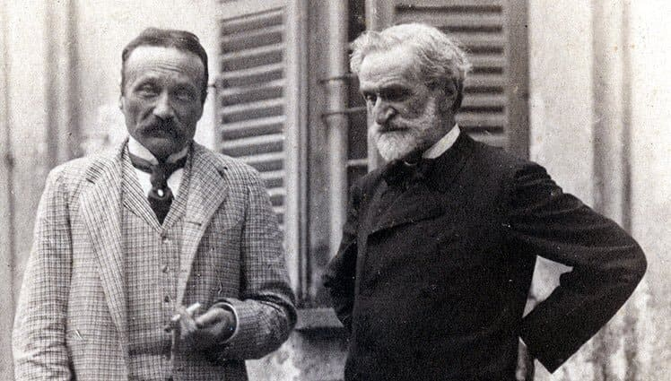 Boito y Verdi, 1892 © Achille Ferrario - Bertelsmann