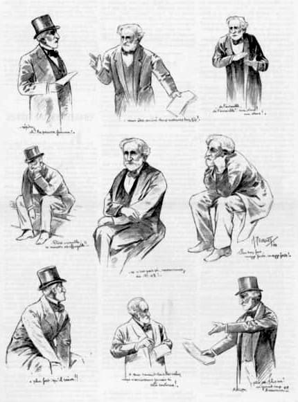 Verdi dirigiendo los ensayos de Falstaff