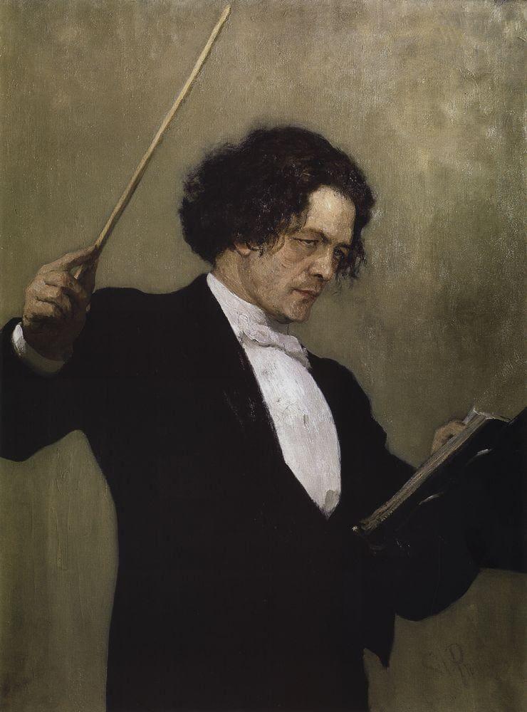 Retrato de Antón Rubinstein (1887), por Ilya Repin.