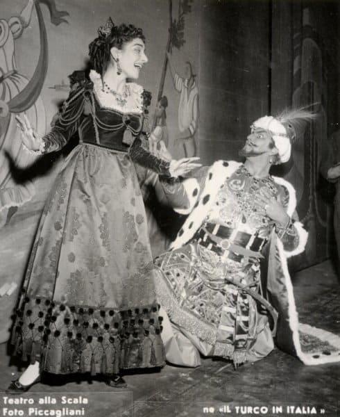 Maria Callas en Il turco in Italia.