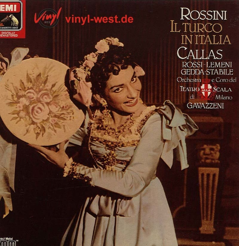 Il turco en Italia, fue la realizada en 1954 por el coro y la orquesta del Teatro de la Scala de Milán