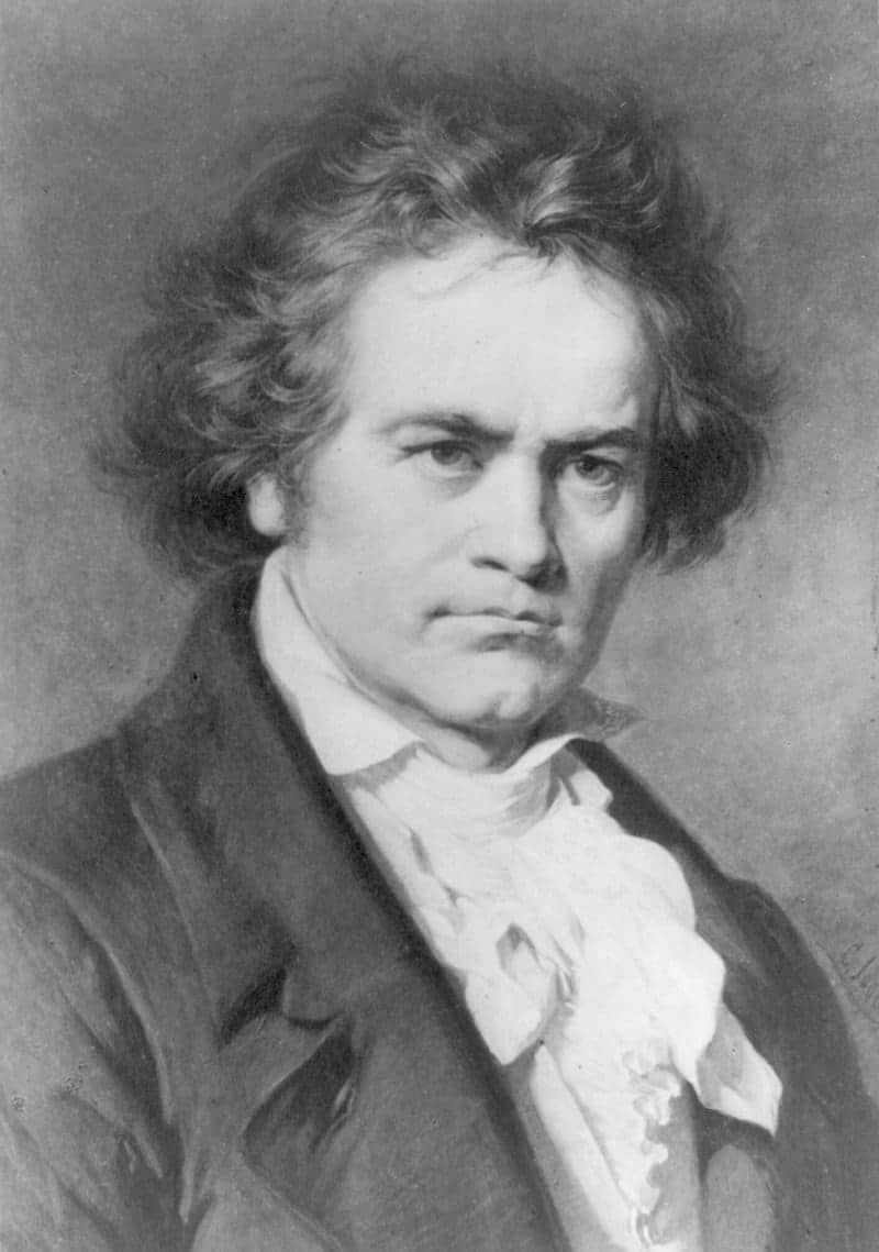 Ludwig van Beethoven. Reproducción fotográfica del retrato pintado por Carl Jaeger (1833-1887). © Biblioteca del Congreso