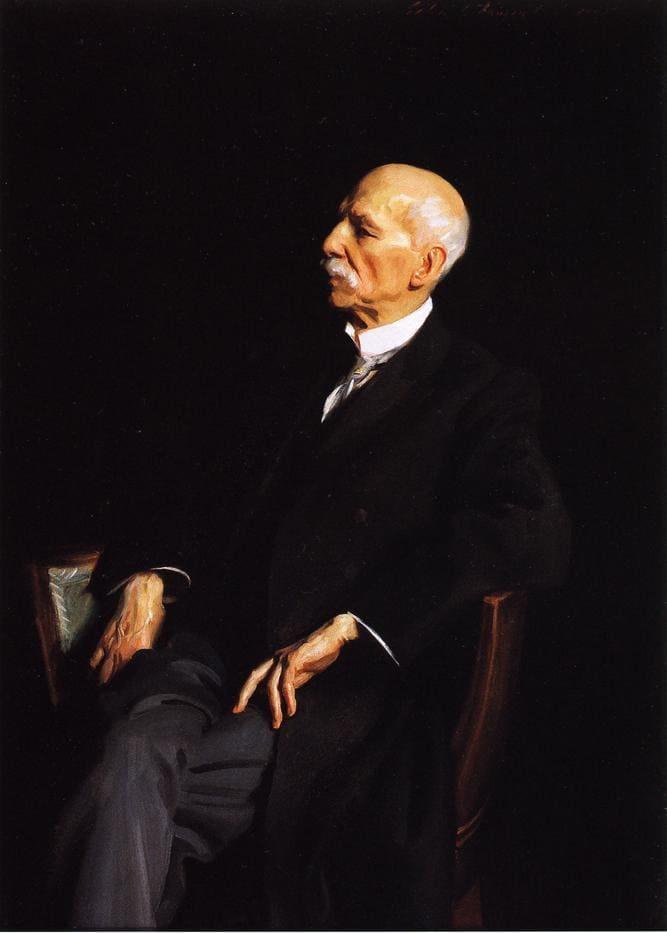 Manuel Patricio García a los 100 años, retrato de John Singer Sargent