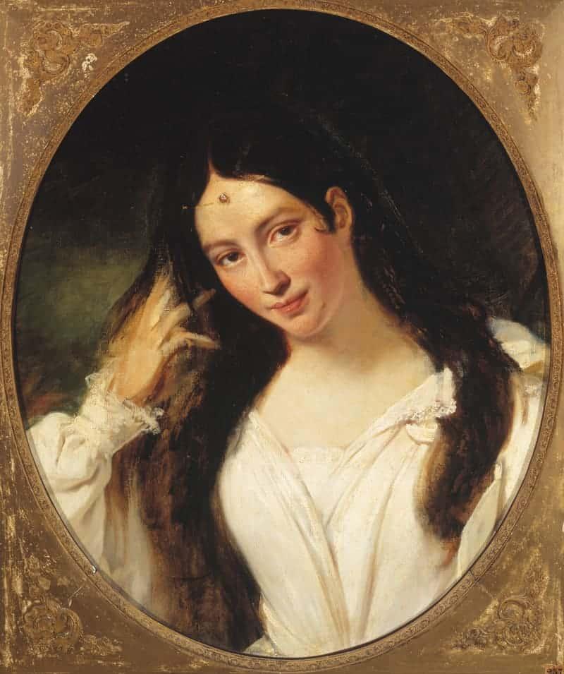 María Malibrán, retrato de François Bouchot
