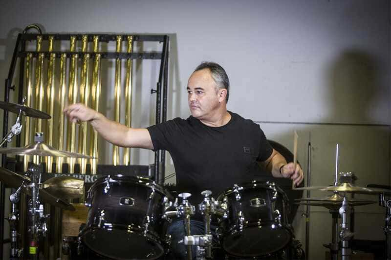 La batería de Javier Eguillor protagoniza un estreno mundial con una obra de David Mancini