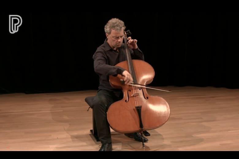Violino Harpa (violonchelo experimental de Thomas Zach, 1872).