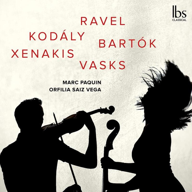 Ravel, Kodály, Bartók, Xenakis, Vasks Marc Paquin, violín Orfilia Saiz,