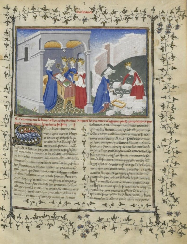 La cité des dames, Christine de Pizan © Bibliothèque nationale de France