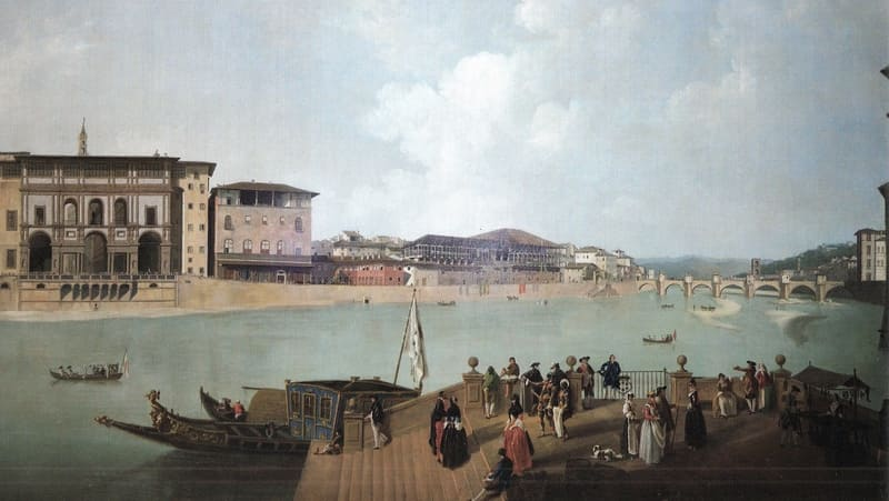 Vista de Florencia, Thomas Patch (segunda mitad del siglo XVIII)
