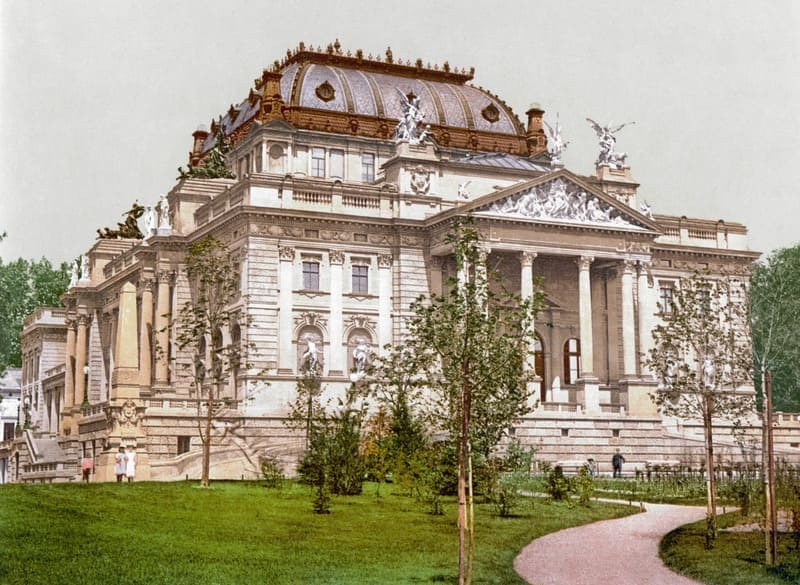 Hessisches Staatstheater (Wiesbaden) alrededor de 190